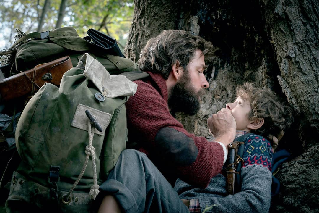 characters hiding outside from the movie A Quiet Place