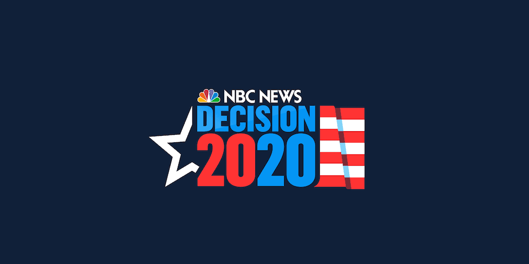 text reading Decision 2020