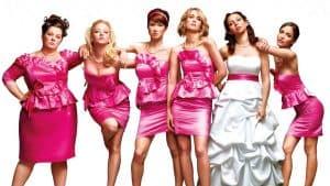 Bridesmaids group pose